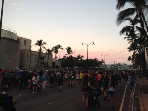 Great Aloha Run-sun rising
