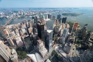 The view from One World Trade Center...overlooking Ground Zero